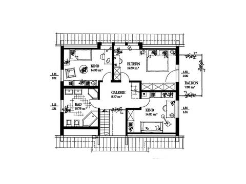 Das Jubiläumshaus Grundriss DG von Haacke Haus