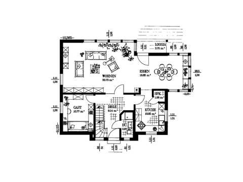 Das Jubiläumshaus Grundriss EG von Haacke Haus