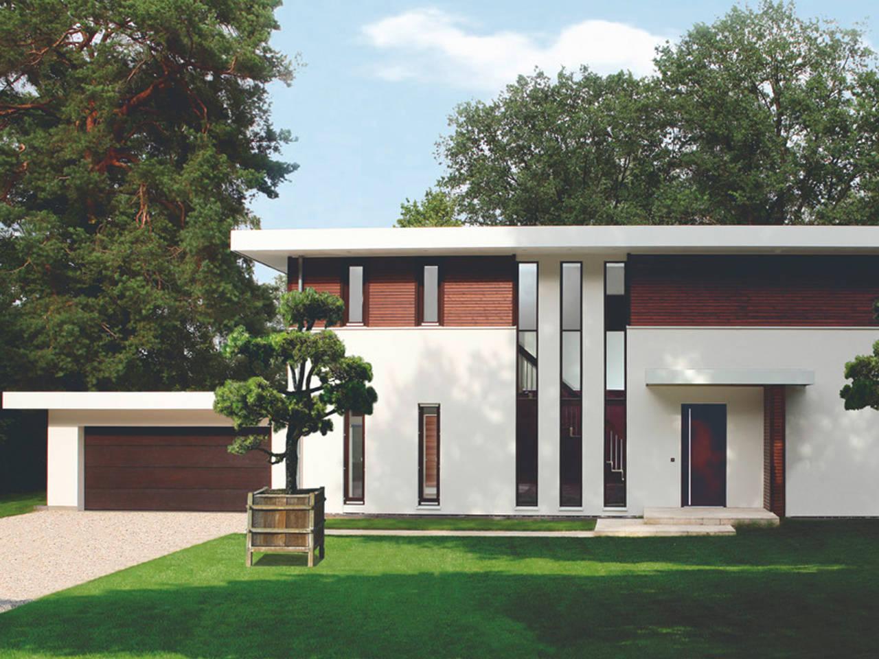 Bauhausvilla Frontansicht von Haacke Haus