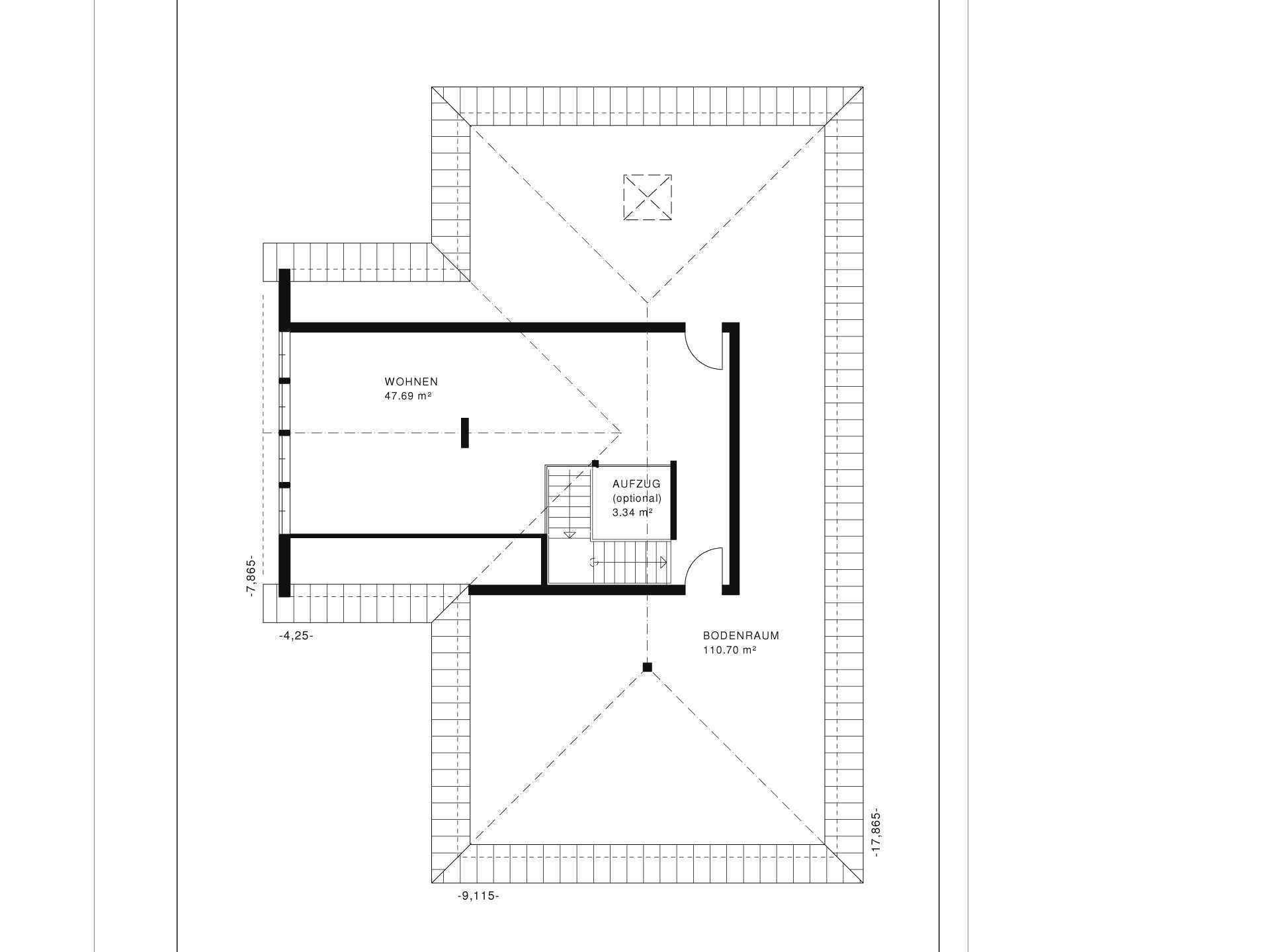 Bungalow Vita Grundriss DG von Haacke Haus