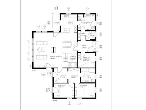 Bungalow Vita Grundriss EG von Haacke Haus
