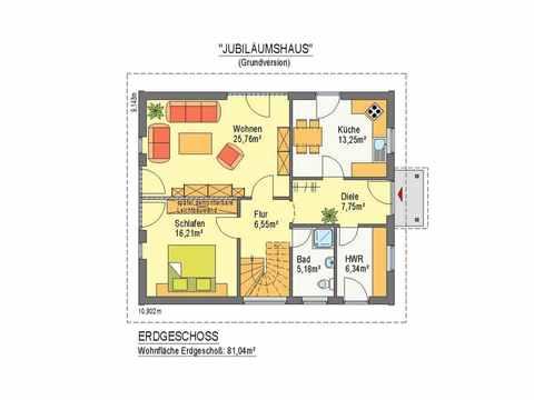 Jubiläumshaus - ideal-heim-bau Grundriss EG