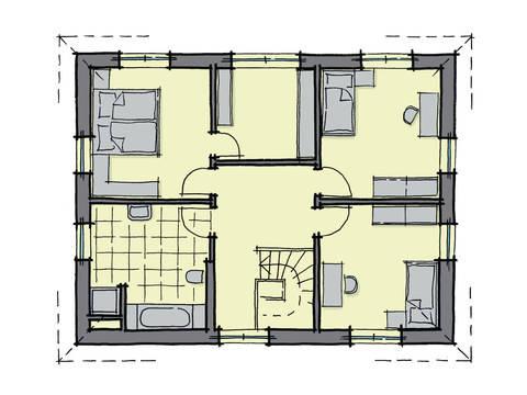 Grundriss Dachgeschoss Stadthaus Baixa GUSSEK-HAUS