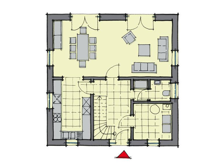 Grundriss Erdgeschoss Stadthaus Fulham GUSSEK-HAUS