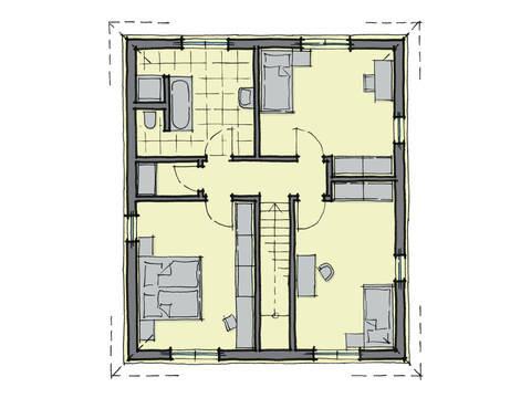 Grundriss Dachgeschoss Stadthaus Greenwich GUSSEK-HAUS