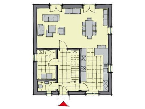 Grundriss Erdgeschoss Stadthaus Greenwich GUSSEK-HAUS