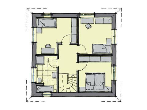 Grundriss Dachgeschoss Stadthaus Kensington GUSSEK-HAUS