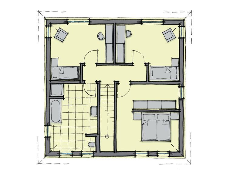 Grundriss Dachgeschoss Stadthaus Manhattan GUSSEK-HAUS
