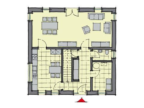 Grundriss Erdgeschoss Stadthaus Manhattan GUSSEK-HAUS