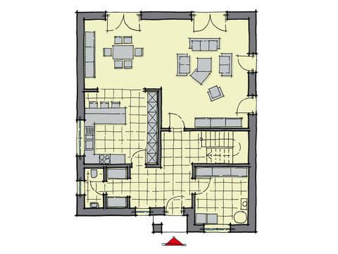 Grundriss Erdgeschoss Stadthaus Ostia GUSSEK-HAUS