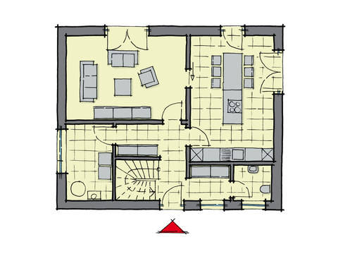 stadthaus santa fe gussek haus. Black Bedroom Furniture Sets. Home Design Ideas