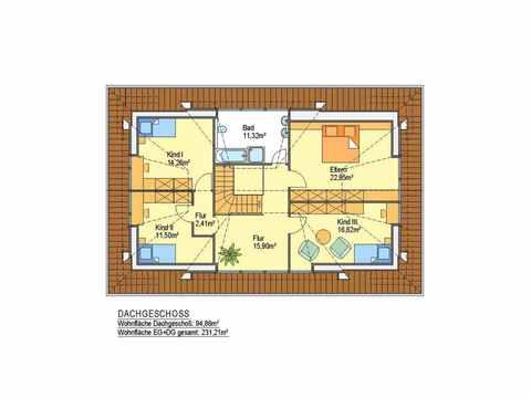 Landhaus Cloppenburg - ideal-heim-bau Grundriss DG