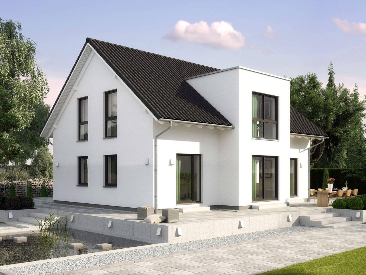 Einfamilienhaus Birkenallee Variante 1 Außenansicht GUSSEK HAUS