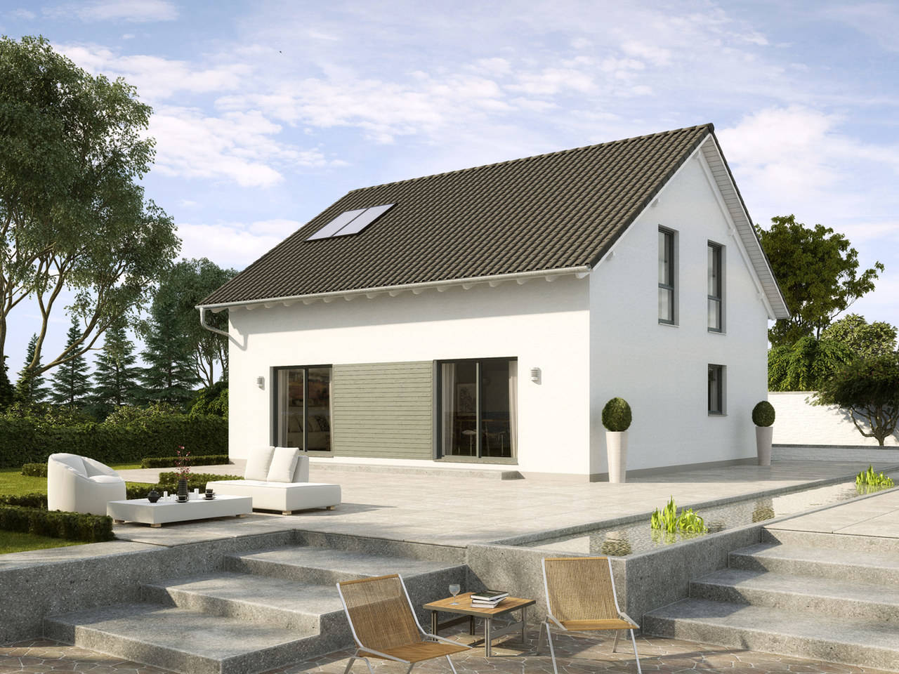 Einfamilienhaus Buchenallee Variante 1 von GUSSEK HAUS
