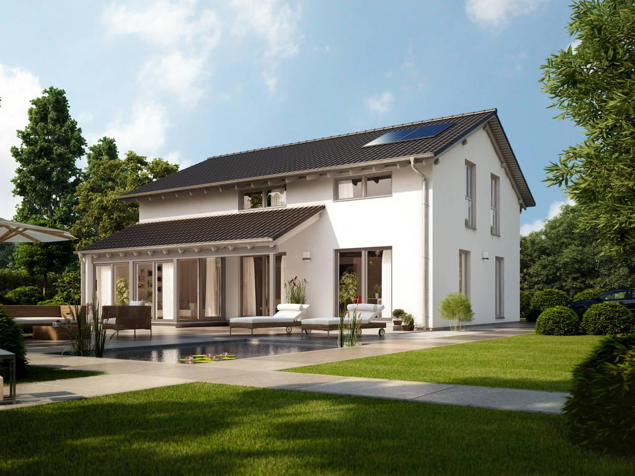 Einfamilienhaus Pappelallee Außenansicht GUSSEK HAUS