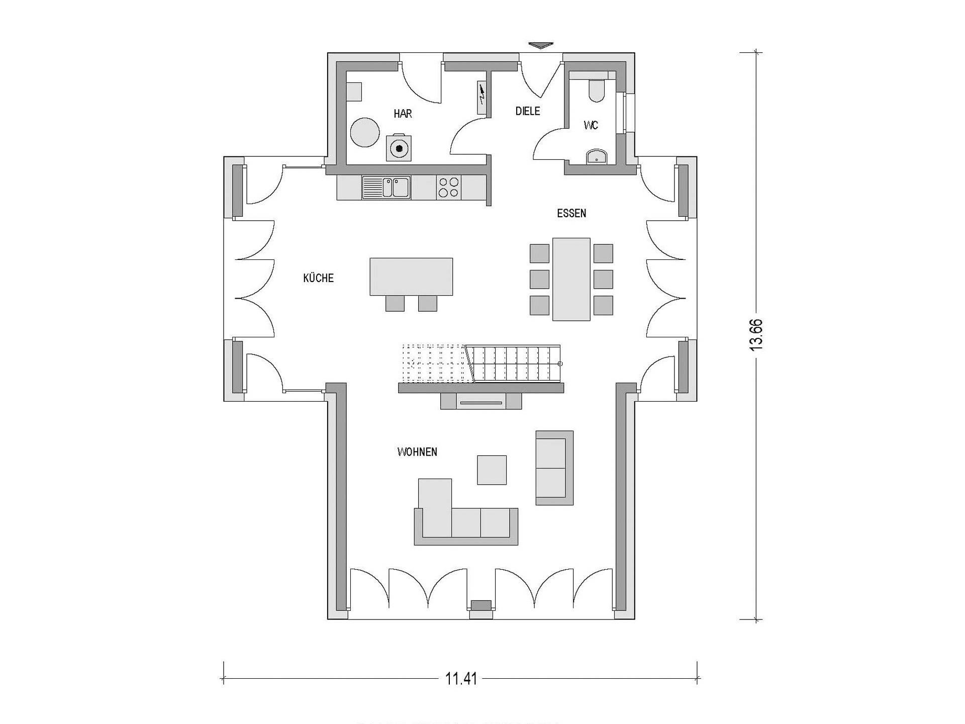 Flachdachhaus Urban 1007 Cav Konzepthaus Musterhaus Net
