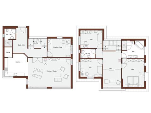 Haus Design 182 Grundrisse von Frammelsberger