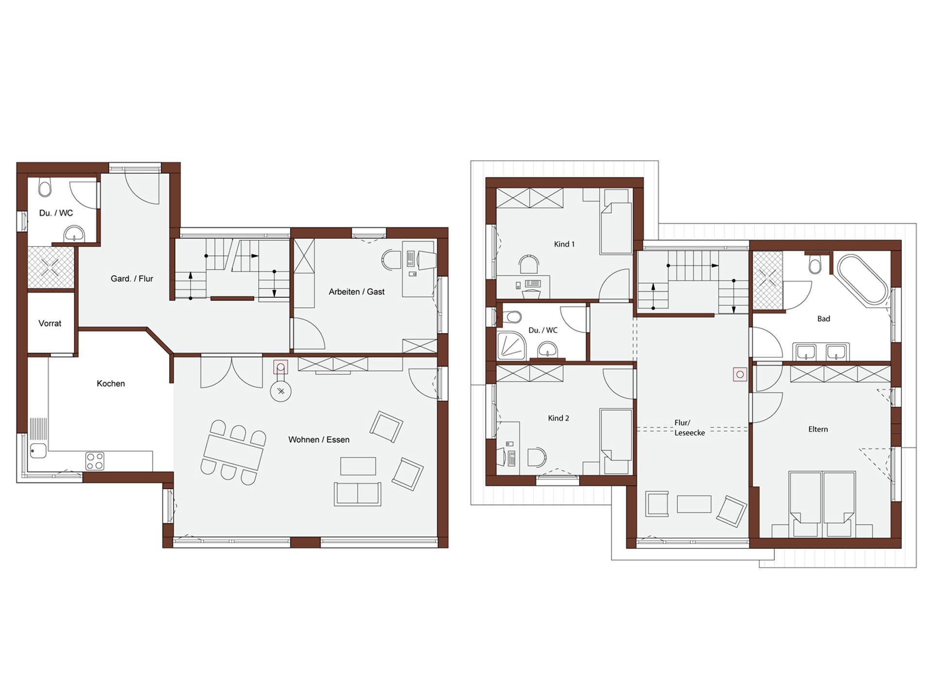 Haus design 182 frammelsberger r ingenieur holzhaus for Muster grundrisse haus