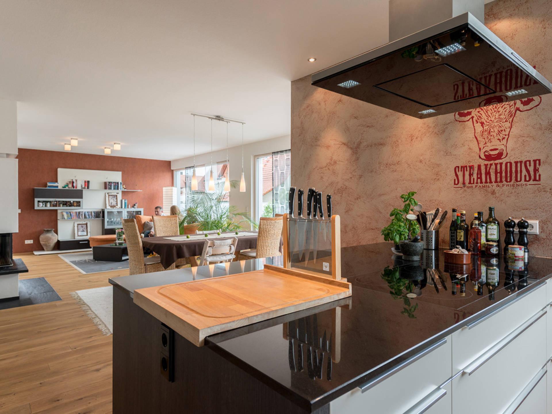 Haus Design 182 Ansicht Küche/Wohnbereich von Frammelsberger