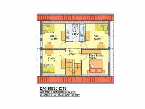 Regio Haus Mitte - ideal-heim-bau Grundriss DG