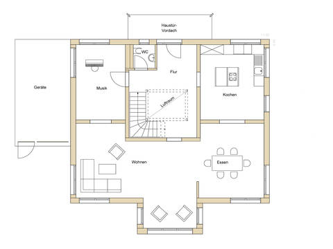 Grundriss EG Haus Design 237 von frammelsberger