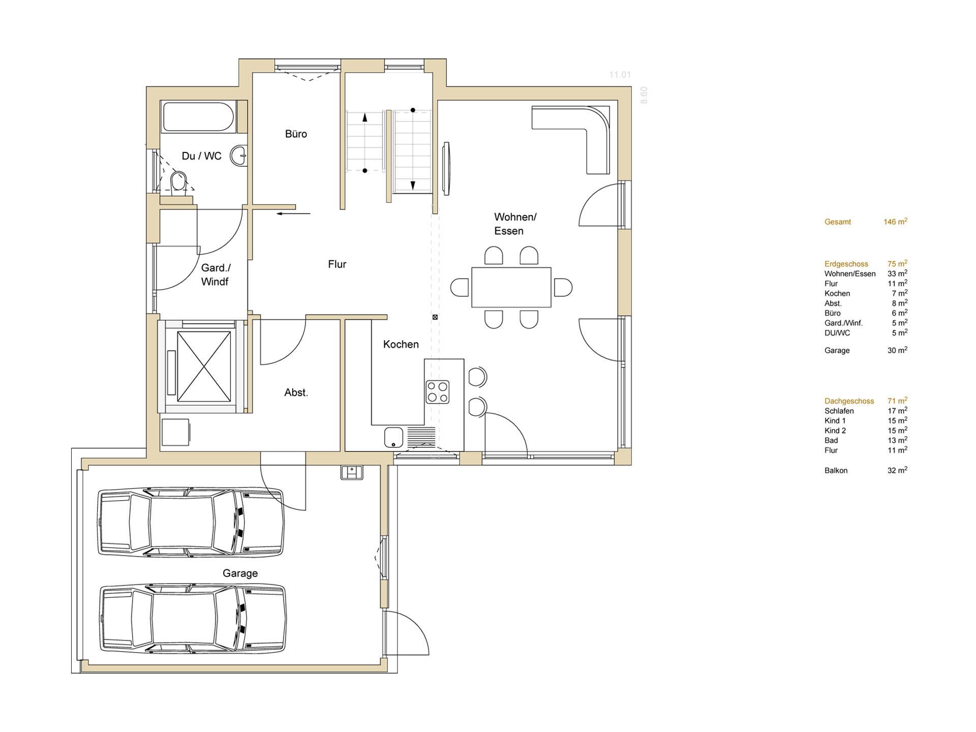grundriss haus 8m breit wohn design. Black Bedroom Furniture Sets. Home Design Ideas