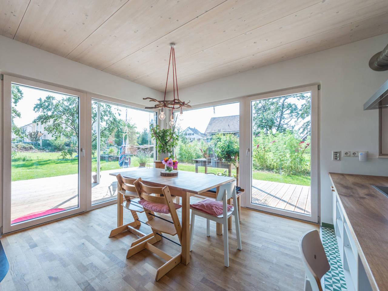 Haus Design 170 Ansicht Essbereich von frammelsberger Holzhaus