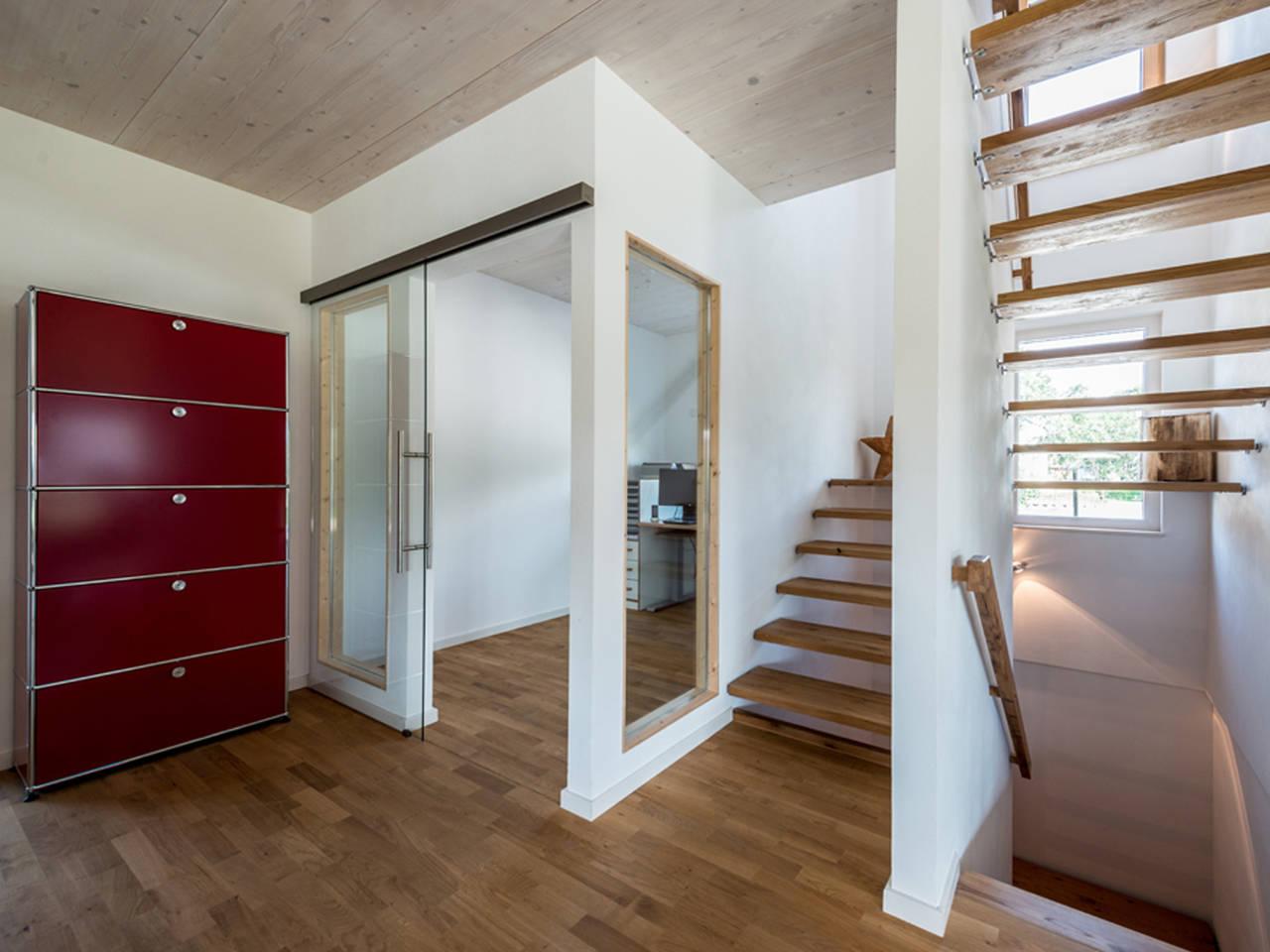 Haus Design 170 Ansicht Treppenhaus von frammelsberger Holzhaus