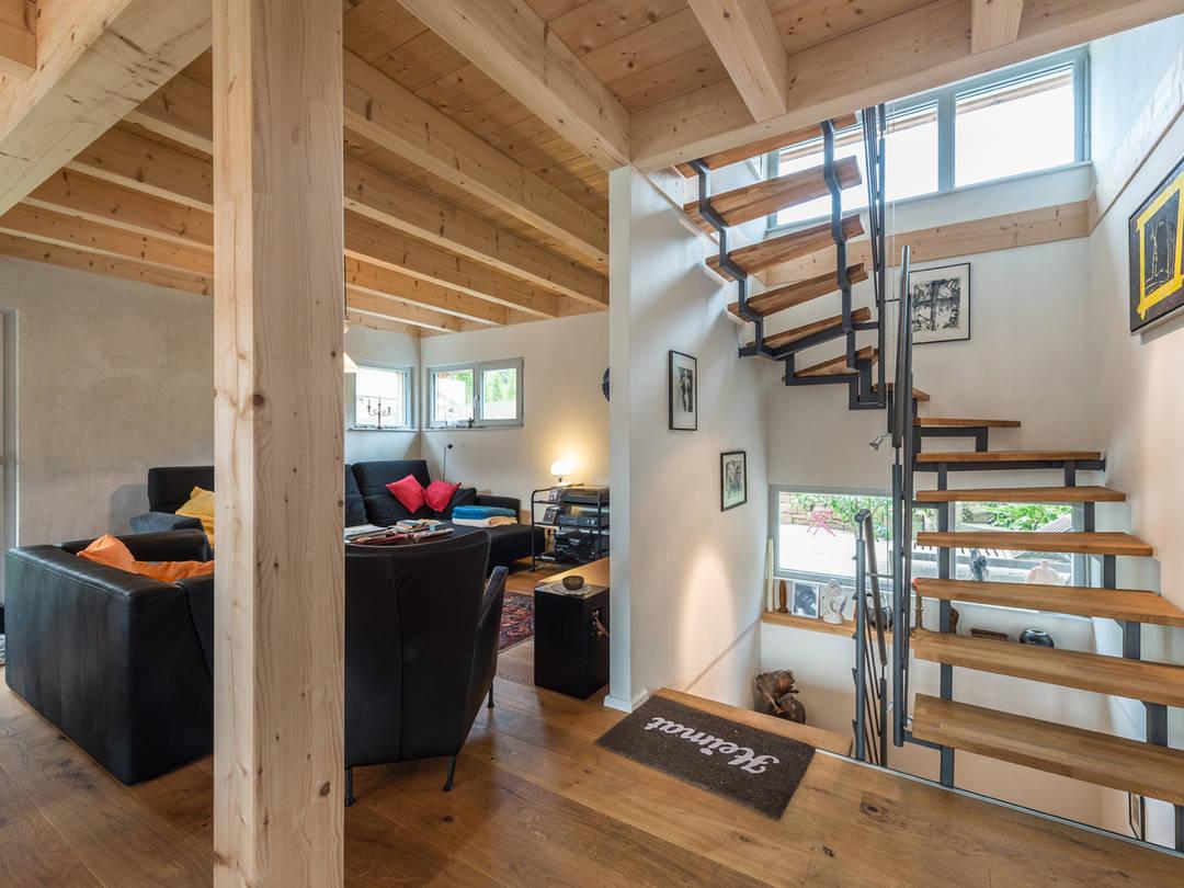 Haus Design 120 Ansicht Treppenhaus von frammelsberger Holzhaus