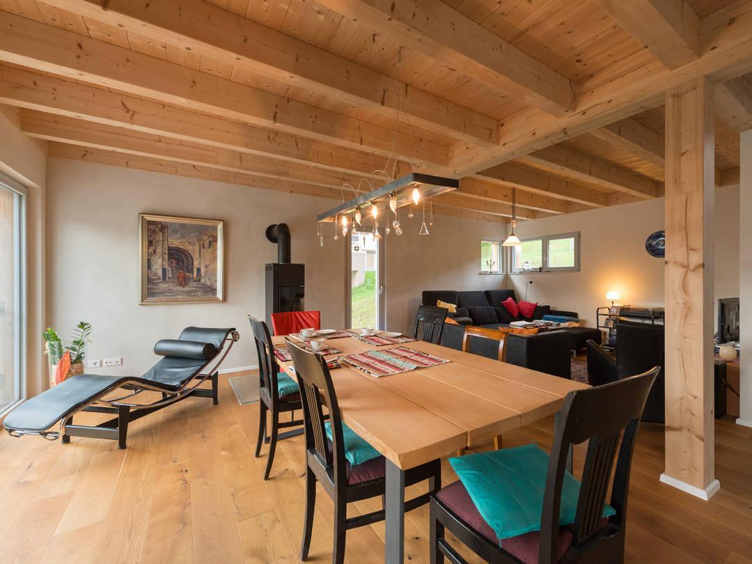 Haus Design 120 Ansicht Wohnzimmer von frammelsberger Holzhaus