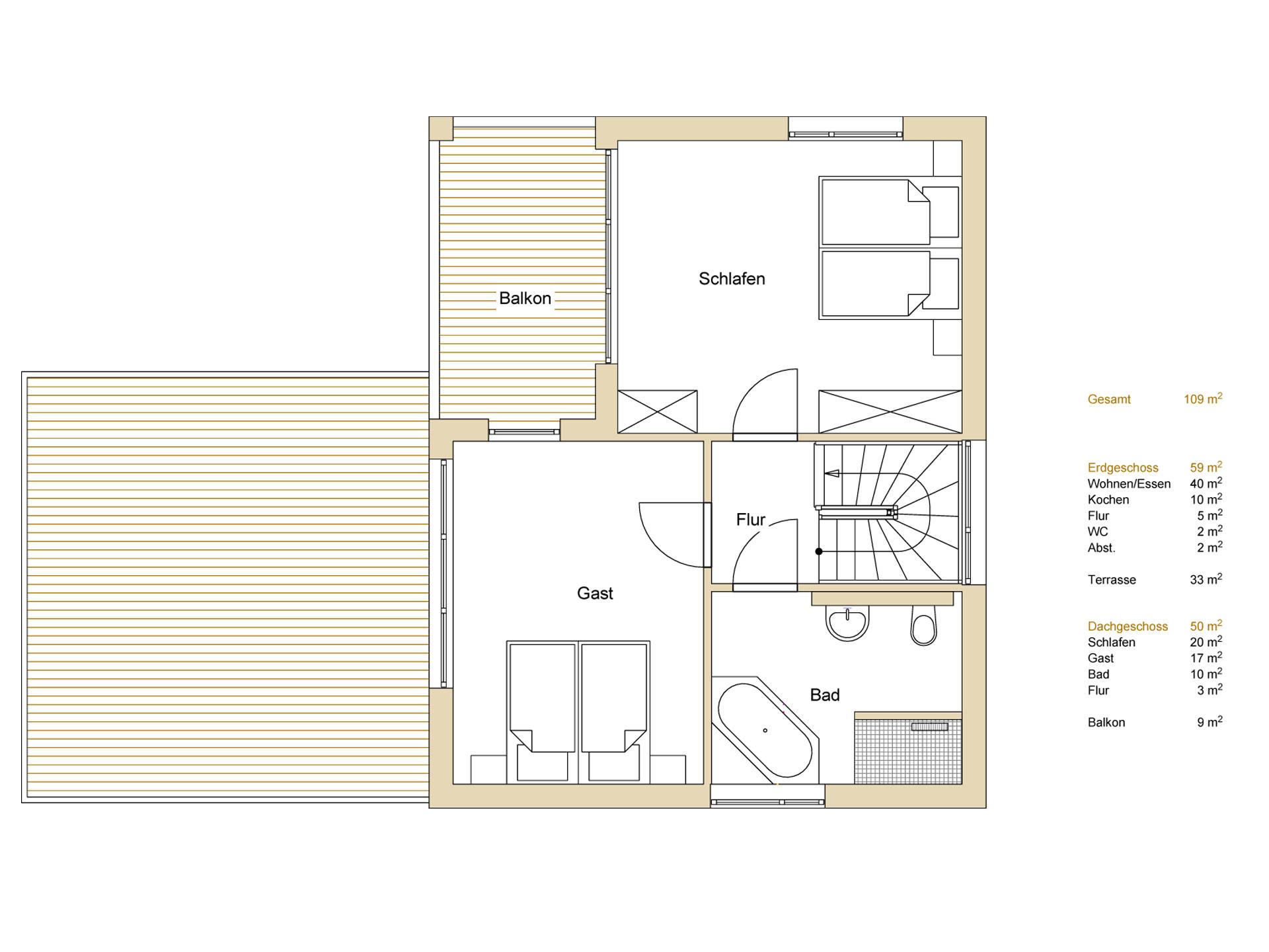 Haus Design 120 Grundriss OG