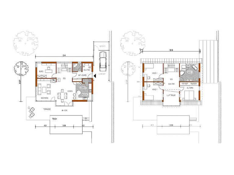 Grundriss Haus Design 168 von frammelsberger Holzhaus