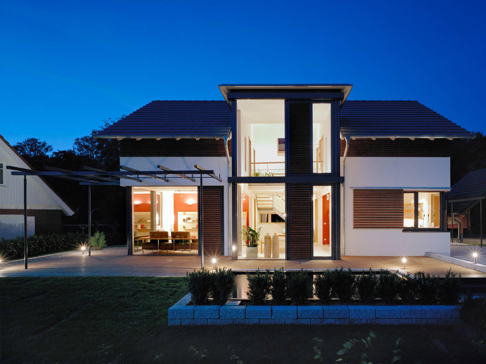 Aussenansicht 2 von Haus Design 168 von frammelsberger Holzhaus