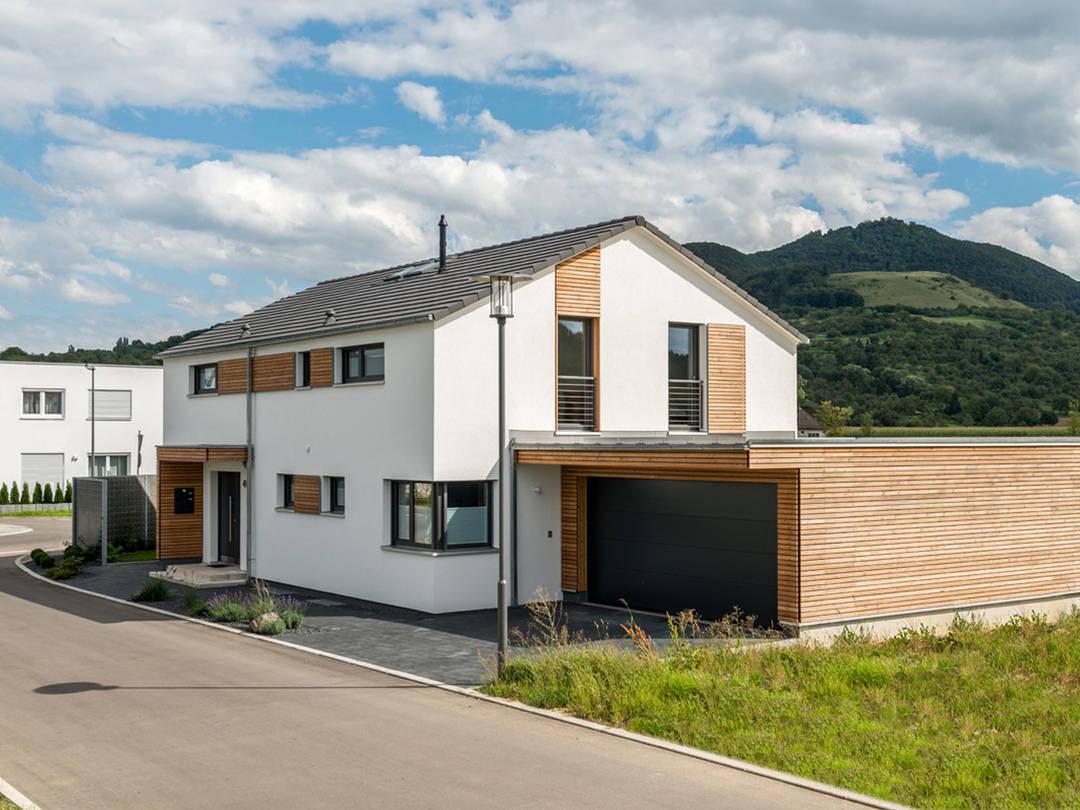 Aussenansicht Haus Design 188 von frammelsberger Holzhaus
