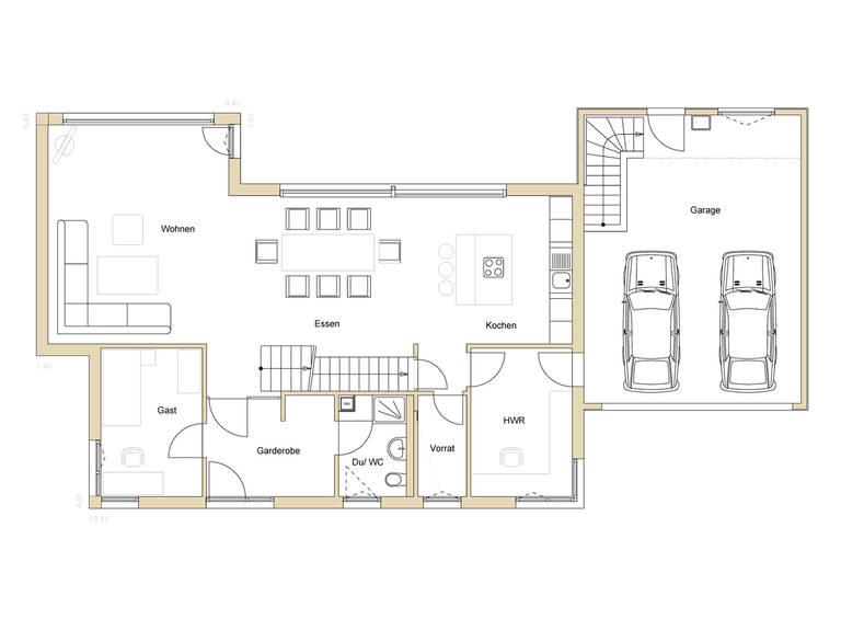 Haus Design 188 Grundriss EG