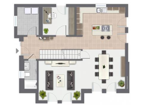 Musterhaus Madeleine von GUSSEK HAUS - Grundriss EG