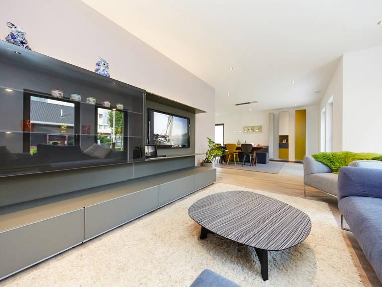 Musterhaus Madeleine von GUSSEK HAUS - Wohnzimmer