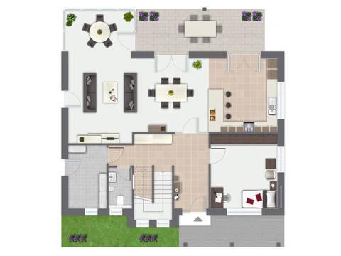 Musterhaus Isabella con Gussek Haus - Grundriss EG
