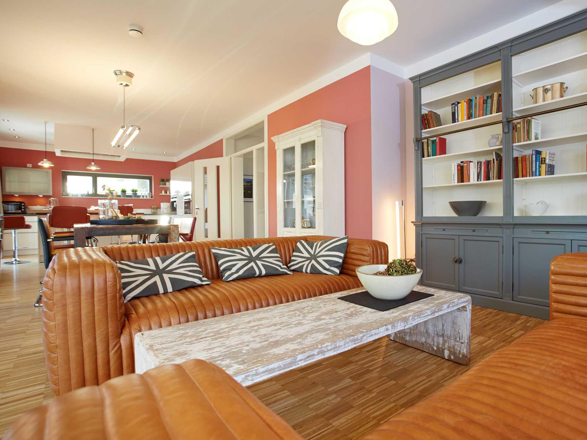 Musterhaus Isabella con Gussek Haus - Wohnzimmer