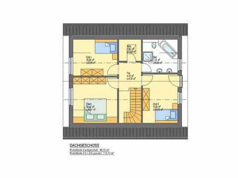 Einfamilienhaus Frühlingstraum - ideal-heim-bau Grundriss DG