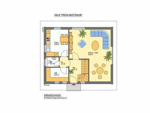 Einfamilienhaus Frühlingstraum - ideal-heim-bau Grundriss EG Version 1
