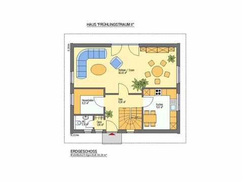 Einfamilienhaus Frühlingstraum - ideal-heim-bau Grundriss EG Version 2