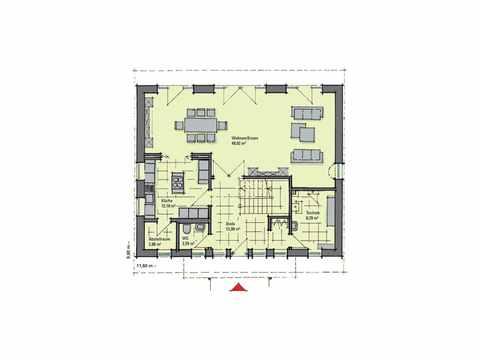 Musterhaus Diana von Gussek Haus Grundriss EG
