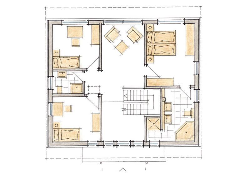 Musterhaus DIana von Gussek Haus - Grundriss DG