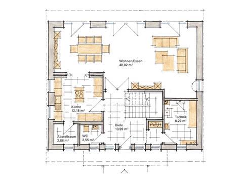 Musterhaus DIana von Gussek Haus - Grundriss EG