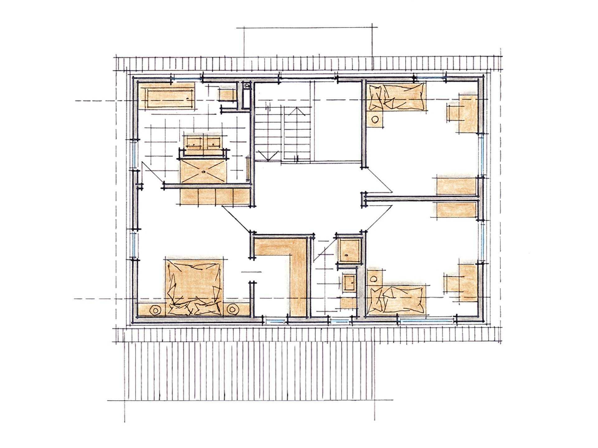 Musterhaus Mila - Grundriss DG
