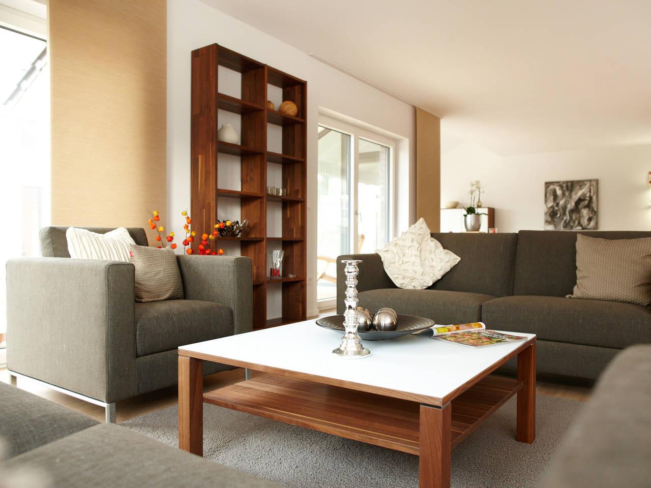 Musterhaus Mila von Gussek Haus - Wohnzimmer