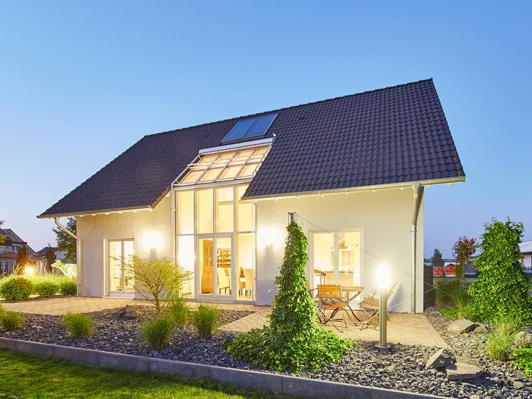 Gartenansicht Musterhaus Evita