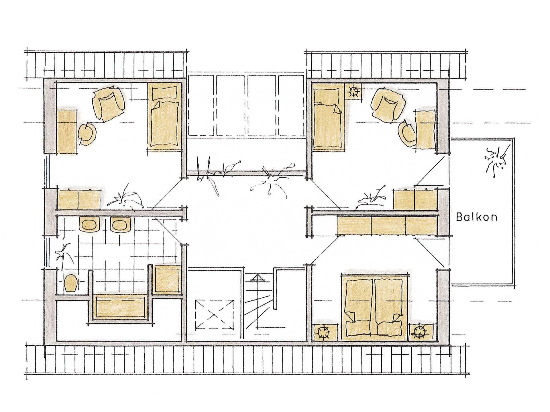 Musterhaus Evita von Gussek Haus - Grundriss DG