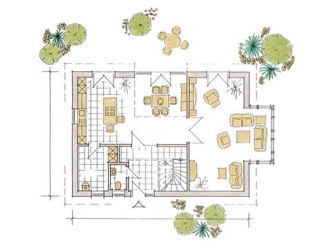 Musterhaus Evita von Gussek Haus - Grundriss EG